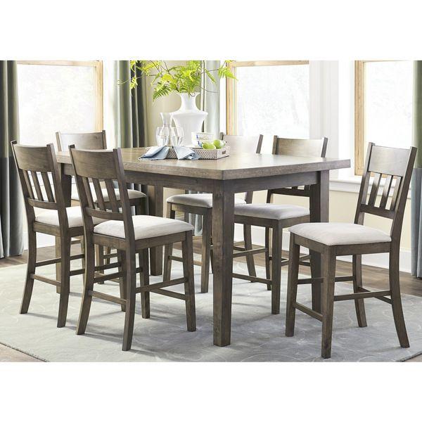 Progressive Granger Weathered Oak Veneer/Rubberwood Counter Height Table