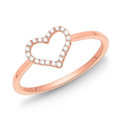 Ring aus 750er Rotgold Herz mit 22 Diamanten 0,11 ct. https://www.thejewellershop.com/ #ring #diamanten #diamant #diamond #diamonds #rotgold #gold #herz #heart #jewelry #schmuck