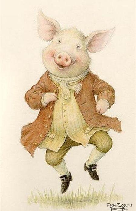 Новогодние картинки свинки для декупажа, самолетиков как