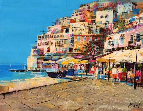 Positano in Italy by Mike Bernard