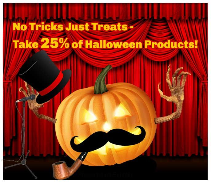 Save 25% off at: http://www.dannabananas.com/festivities/halloween/
