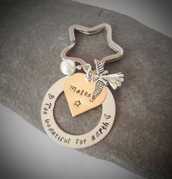 Beautiful personalised remembrance keyring. A by CherryTreeCharm, £13.00