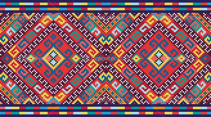 Ukrainian ethnic seamless ornament, #74, vector — Cтоковый вектор #7145078