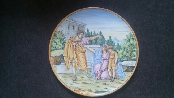 Large Italian Majolica charger plate 16th century
