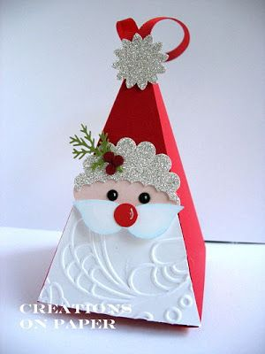 Creations on Paper: Petal Cone - Santa