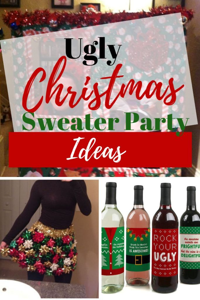 Ugly Christmas Sweater Party Ideas For Adults Christmas Party