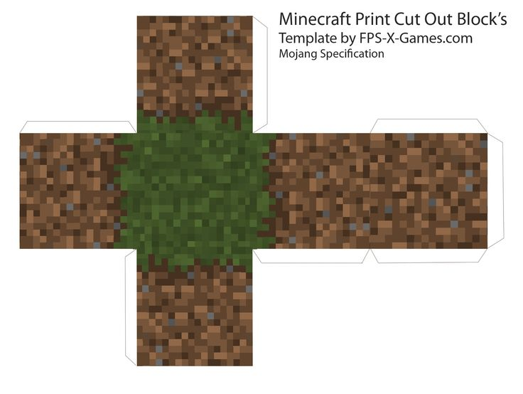 Here are six great printable cut out block's from Minecraft, templates cube's by myself from Mojang Specification. Description from fps-x-games.com. I searched for this on bing.com/images