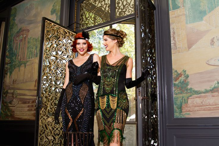 1920s Deco Beaded Gatsby Flapper Dresses