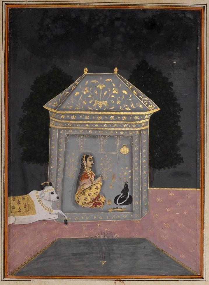Bhairavi Ragini Shiva Puja at Night. Rajasthan, India
