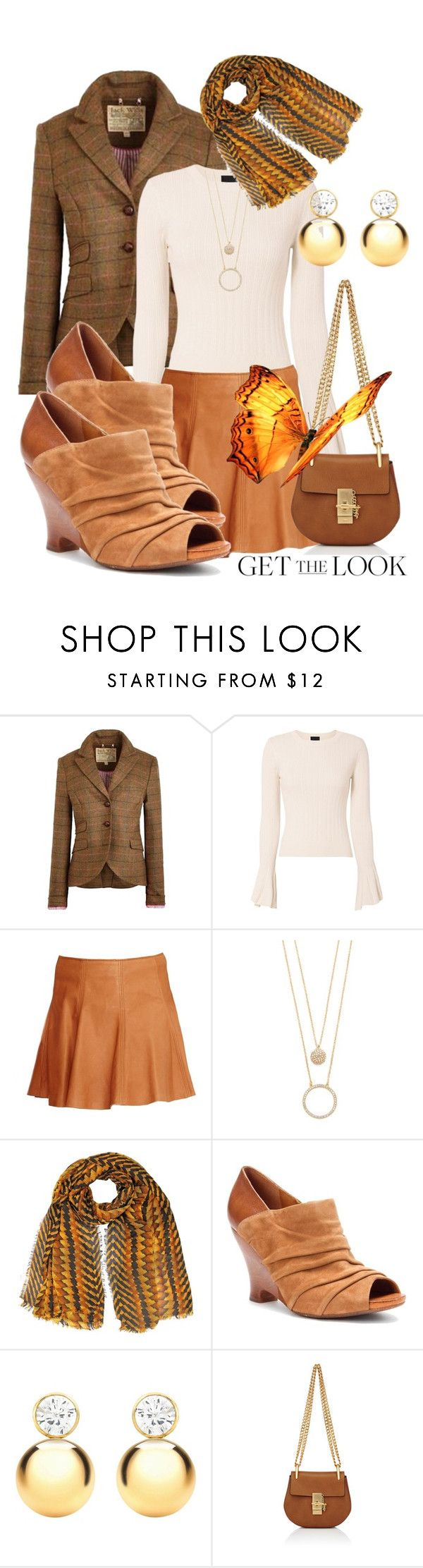 """""""Spring Trend Leather Skirts"""" by simply-one ❤ liked on Polyvore featuring Jack Wills, Exclusive for Intermix, Kate Spade, IBB and Chloé"""