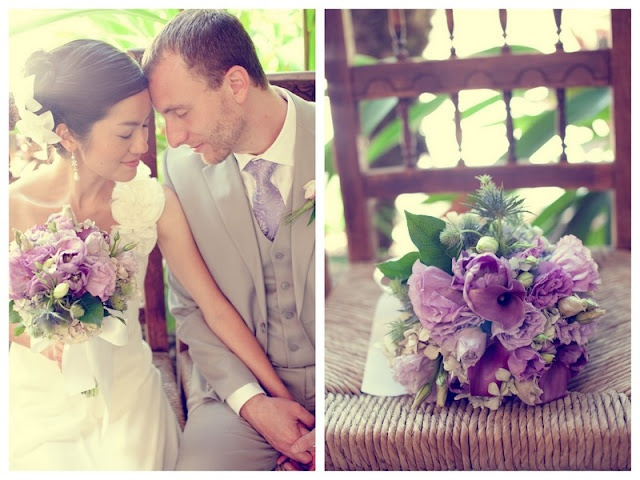 love this soft purple bouquet in this pretty vintage wedding with a modern twist; go here to see more loveliness! http://su.pr/2WBd4p
