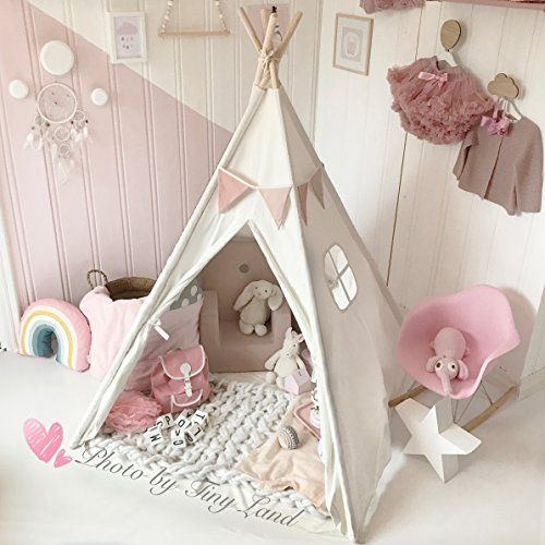 Canvas Kids Teepee Children Play Tent with Mat & Carry Ca... https://www.amazon.com/dp/B01HTIET3Y/ref=cm_sw_r_pi_dp_x_GZ11zbJTP3M35