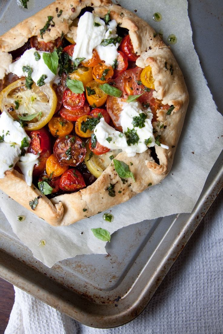 Heirloom tomato galette - a girl & her homea girl & her home