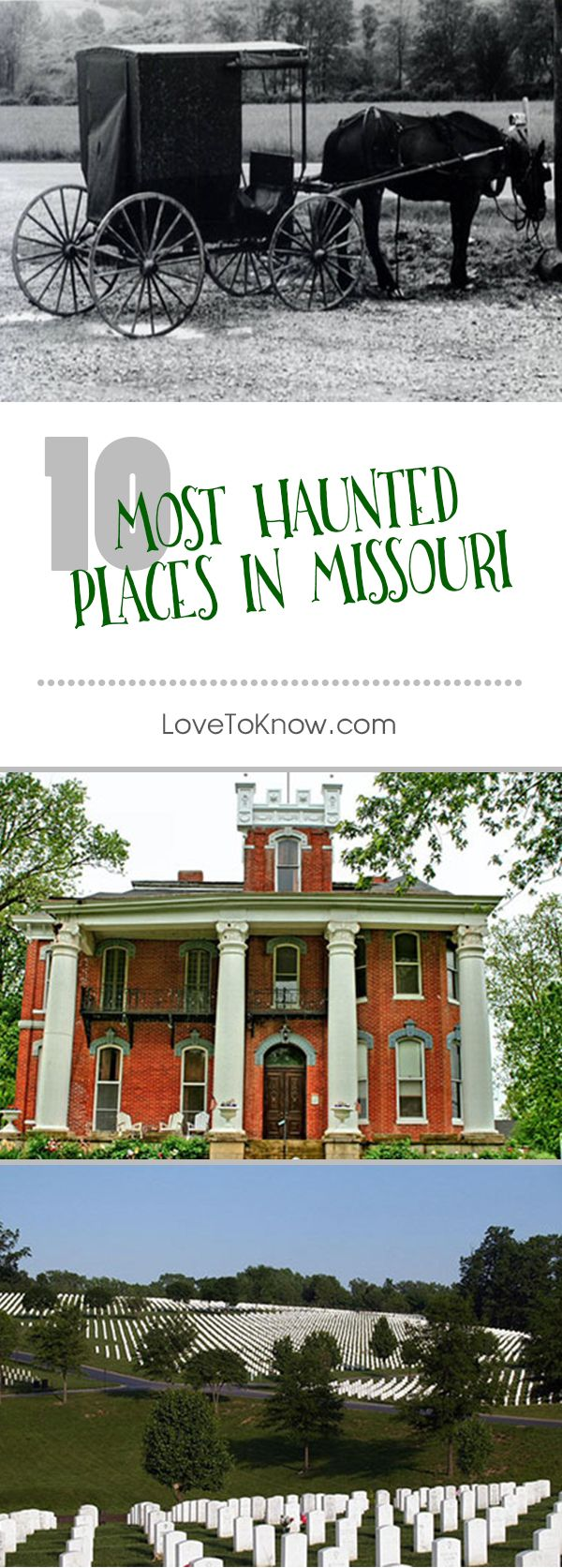 The stories behind the 10 most haunted places in Missouri. Seriously, the story about the Governor's Mansion totally gave me the chills. | 10 Most Haunted Places in Missouri from #LoveToKnow