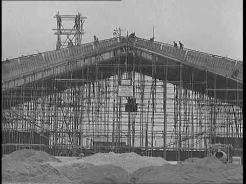 Dublin Airport's Old Terminal During Construction in the late 1930s