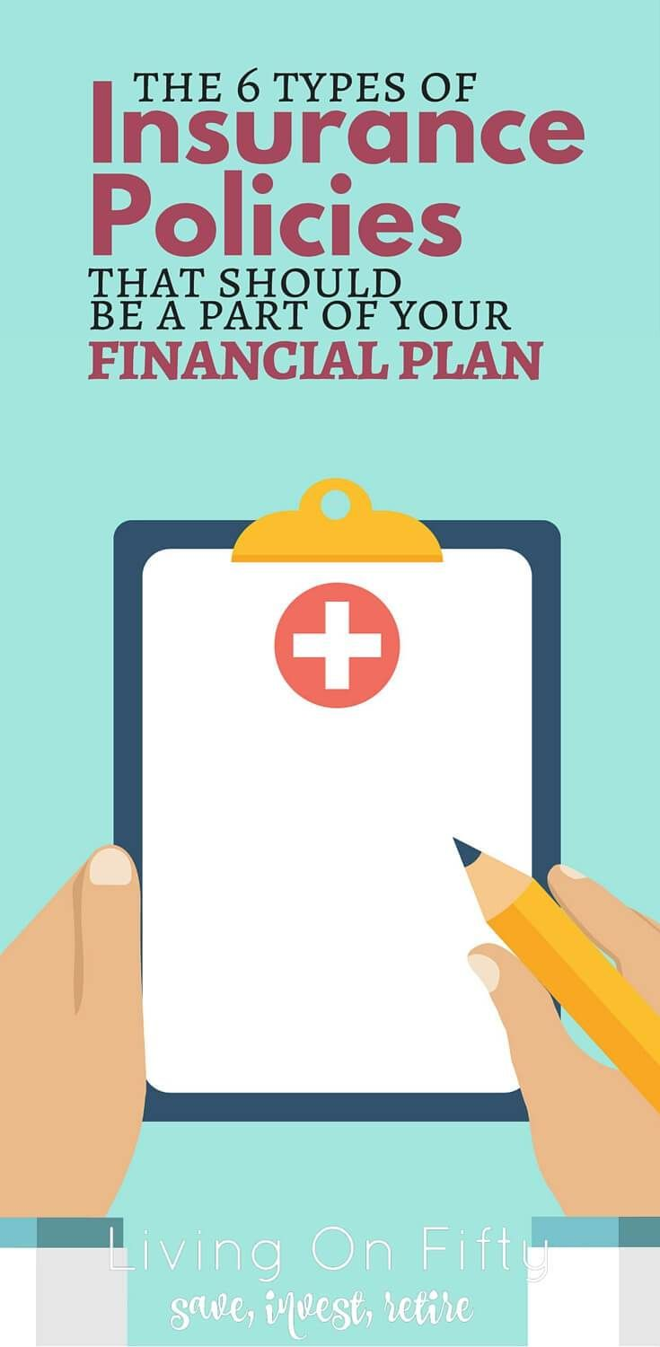 Have you covered every contingency? It may seem like a lot, but there are 6 different types of insurance policies you should have as a part of your financial plan. Here's why - Living on Fifty http://www.retiredby40blog.com/2016/07/11/9-different-types-of-insurance-policies-part-financial-plan/