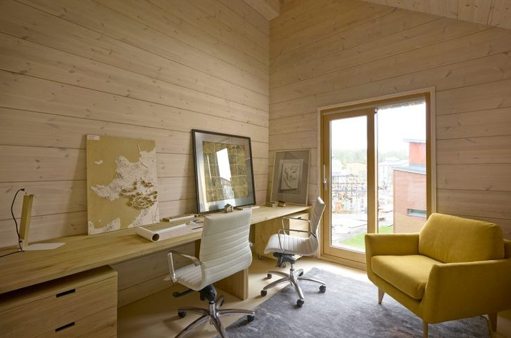 A peaceful and inspiring office space. Honka log homes.