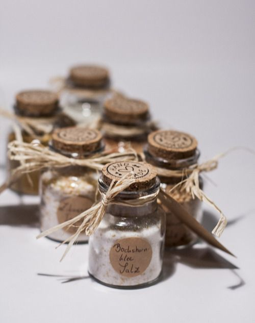 Selfmade salt and spices. Great gift idea.