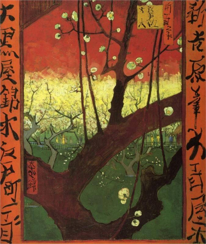 Van Gogh: Japonaiserie (after Hiroshige), 1887 One of my fav's by him.