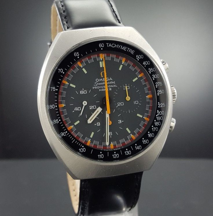 It features an inset multi colored dial with three sub dials. The stainless steel case is a barrel shape. This watch comes with a black leather two strap band and a black and orange Nato strap.This watch is running. | eBay!