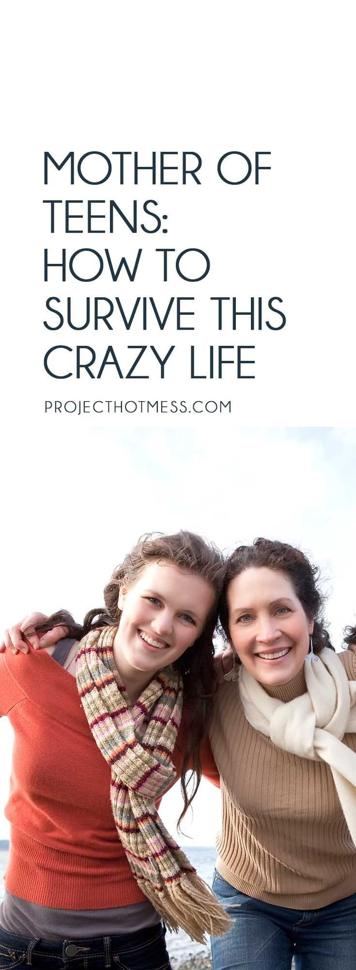 Teenagers are a whole new game as a parent, but there is a way you can survive the crazy life of being a mother of teens, without going completely bonkers.    Parenting | Parenting Advice | Mom Life | Parenting Goals | Parenting Ideas | Parenting Tips | Parenting Types | Parenting Hacks | Positive Parenting | Parenthood | Motherhood | Surviving Motherhood | Teenagers | Teen Parenting | Parenting Teenagers via @project_hotmess