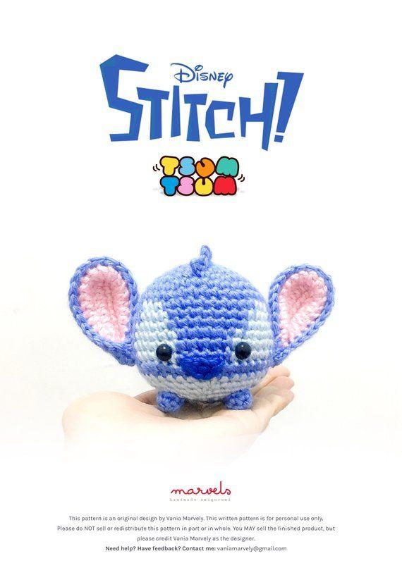 Amigurumi de Crochê Little Stitch - Receita Amigurumi Disney ...   806x570