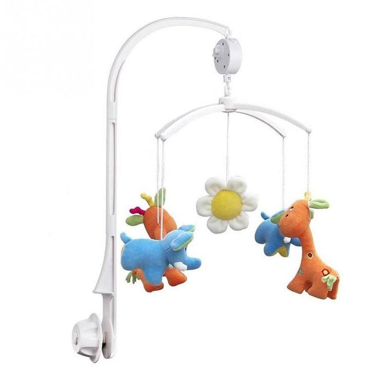 Perfect Kinderbett Rotierenden Bett Glocke Halter Feder Angetrieben Kunststoff Kinder krippe DIY Spielzeug Halter Regal Kind Knackig