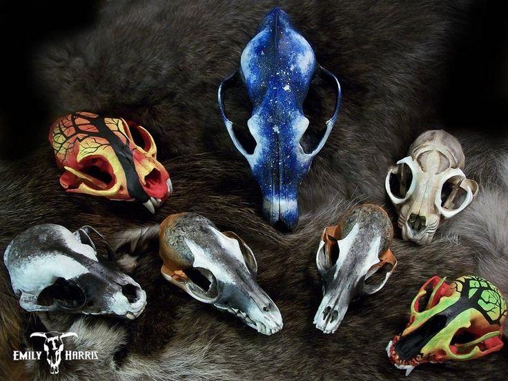 painted animal skulls animal painted and carved skulls