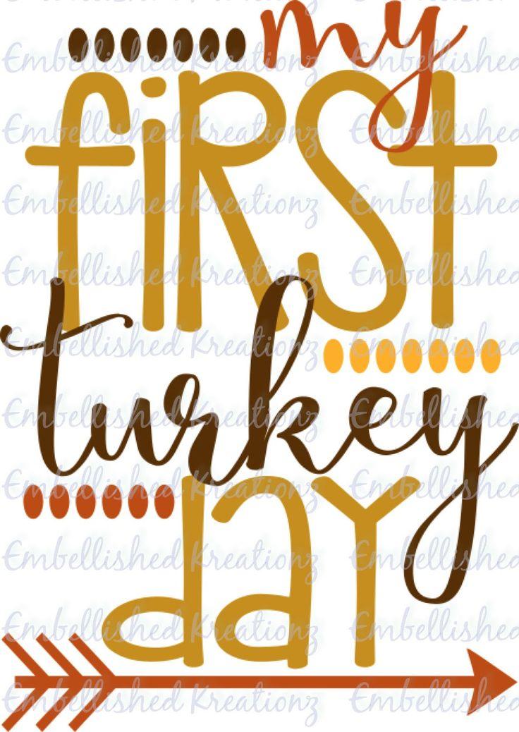 Thanksgiving My First Turkey Day Vinyl Decal T Shirt