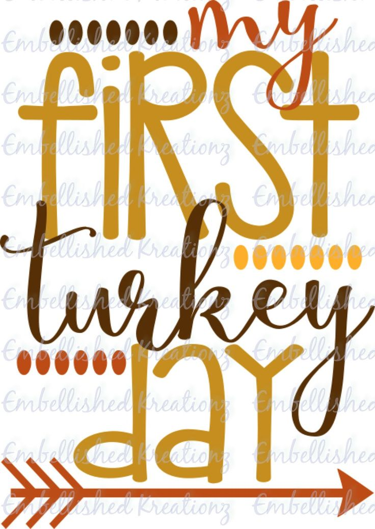 Thanksgiving/'My First Turkey Day'/Vinyl Decal/T-Shirt/Heat Transfer Vinyl Decal by EmbellisheDKreationz on Etsy