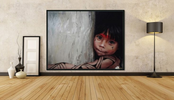For the mission asheninka - oilpainting, I painted this picture for a peruvian asheninca collegium based by my uncle in Obenteni. If You buy this picture, You can also support these peruvian children! Thank You!