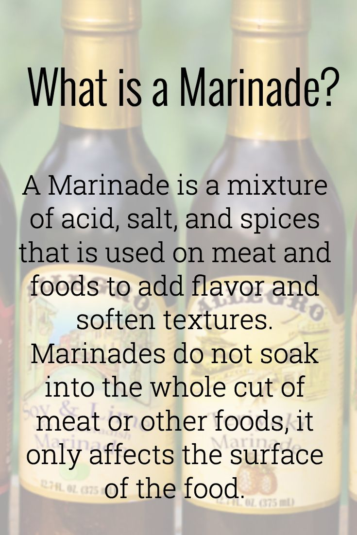 What is a marinade anyway? More information about marinating meat and food on our website! #marinade #marinating #dinnerrecipes  #dinnertime