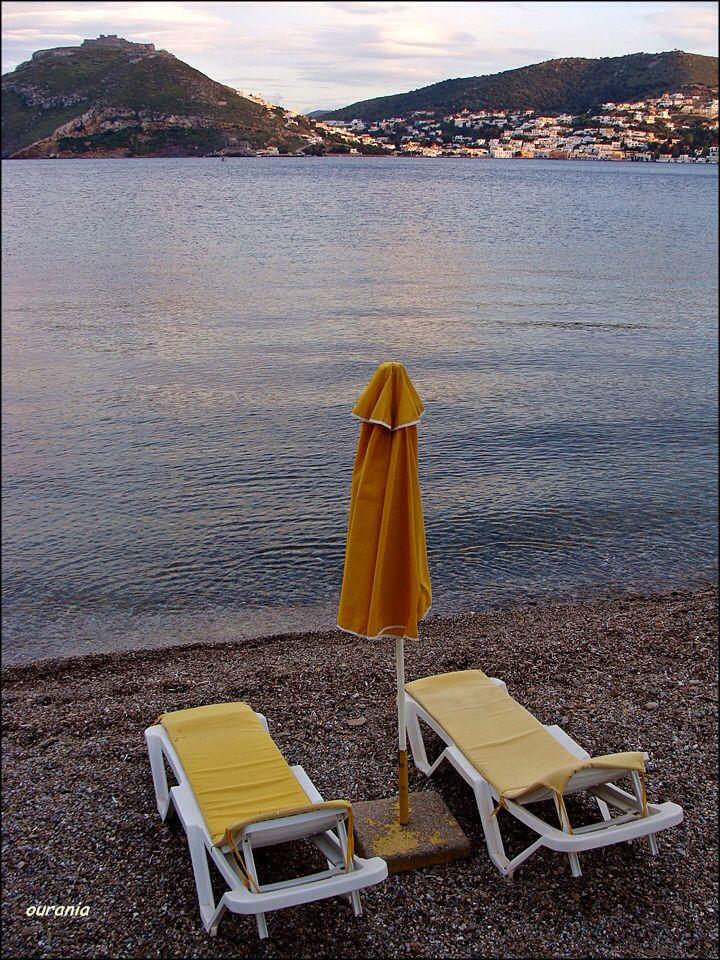 A view from de second last beach of Alinda Bay (de accessible last by road) towards de Castle n Ayia Marina. De beach n de area r called Dio Liskaria, in Leros, Dodekanisos, South Aegean_ Greece
