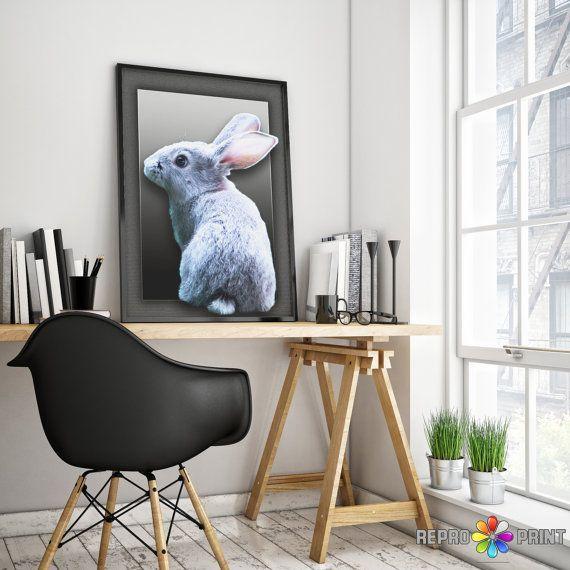 Rabbit Tail Print Nursery Wall Art Gender Neutral от ReproPrint