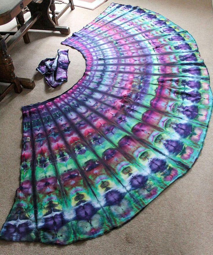 Wrap Skirt Peacock Print bt Audacious Tie Dye