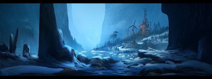 1/365 : Snowy tribe, Timothée MATHON on ArtStation at https://www.artstation.com/artwork/E4PAA