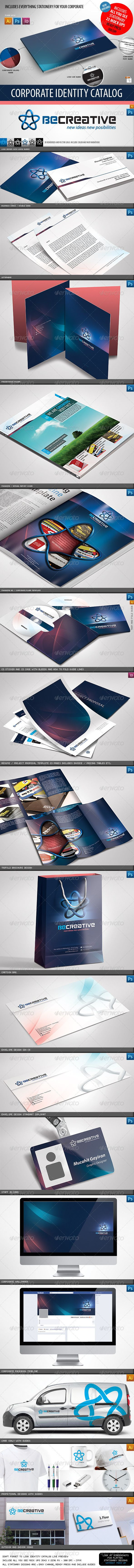 Retro Style Creative Agency Corporate Identity Templates