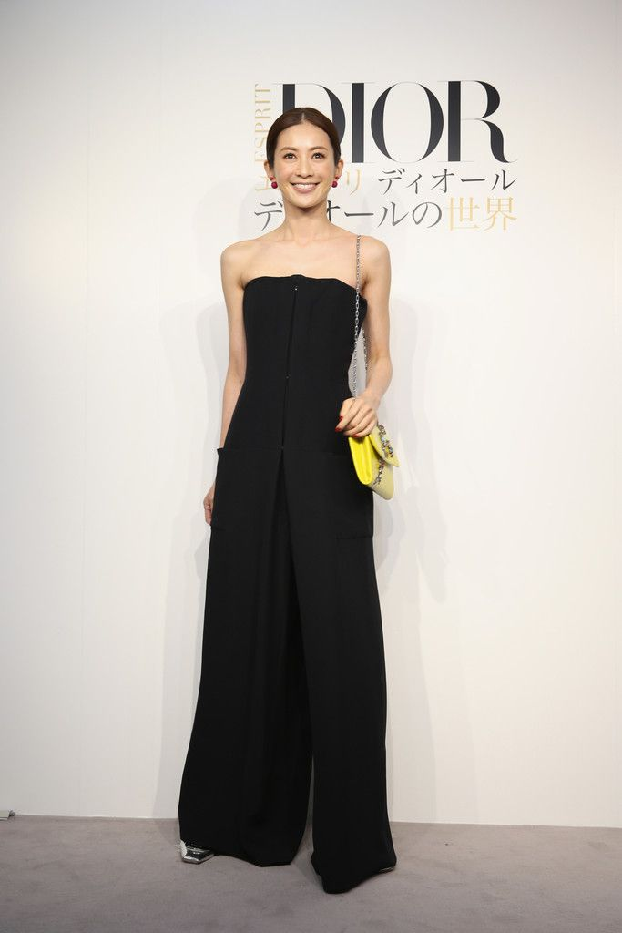 "Model Reiko Takagaki arrives at the ""Esprit Dior"" Opening Reception on October 28, 2014 in Tokyo, Japan."