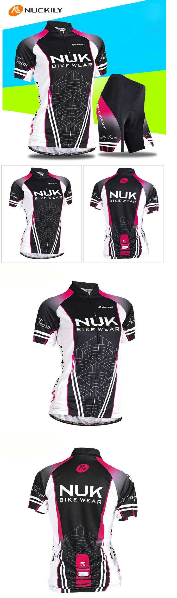 Jersey and Pant Short Sets 177852: Womens Balck Mesh Short Sleeve Cycling Jersey Mtb Clothing Set Bicycle Wear Suit BUY IT NOW ONLY: $30.29