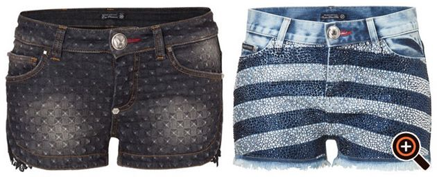 Hot Pants - Jeans, Leder, & Nieten - kurze Hosen von Philipp Plein & Co.