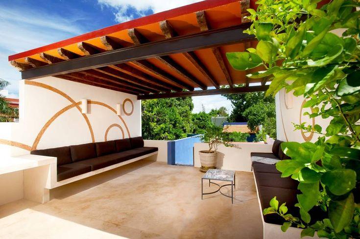 Terraza Planta Alta : Balcones y terrazas mediterráneos de Taller Estilo Arquitectura