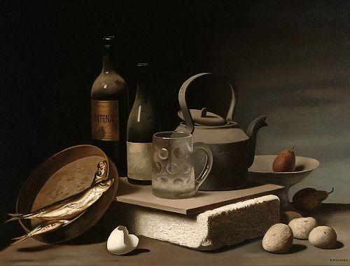 Raoul Hynckes, Still Life, 20th century. I love the flat, matte look