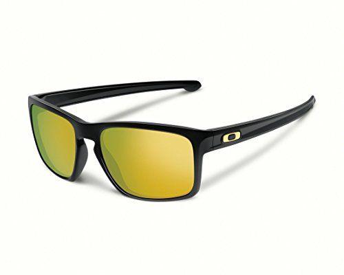 Oakley Men's Sliver 926205 Sunglasses, Black (Polished Black), 57