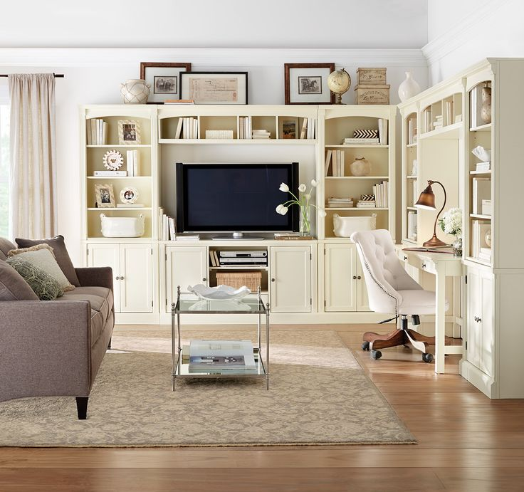 A Leader In Media Center Perfection Complete With Home Office Nook