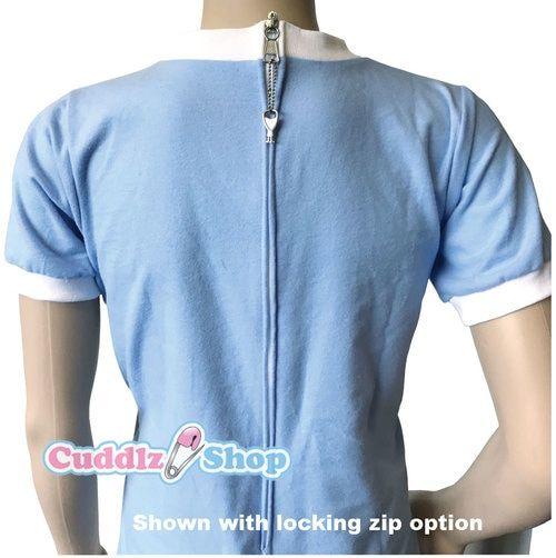 3abd874d9d Blue Cuddlz zipped onesie for adults with locking lockable zip option ABDL  romper sleepsuit adult baby fetish