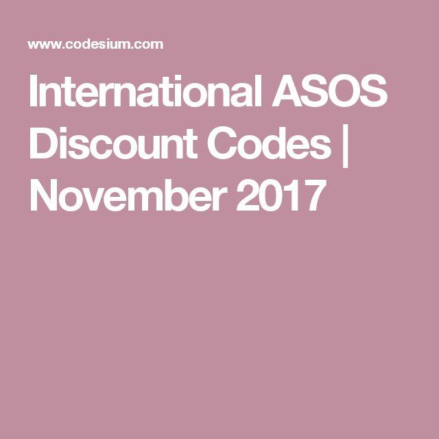 International ASOS Discount Codes | November 2017