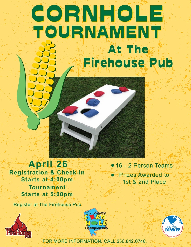 Cornhole Tournament, April 26, 2012 @ Firehouse Pub