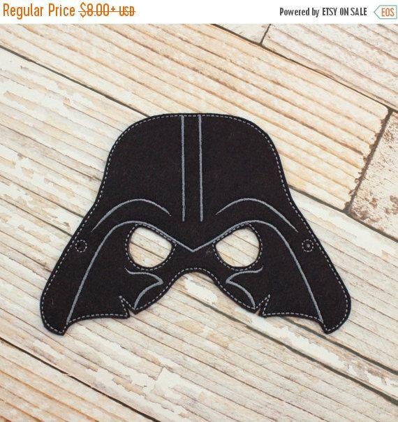 ON SALE Darth Vader Mask felt Darth Vader by AllTheQueensStitches