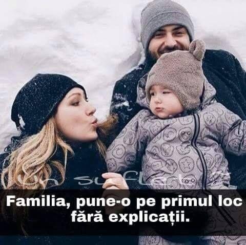 Familia e pe primul loc.