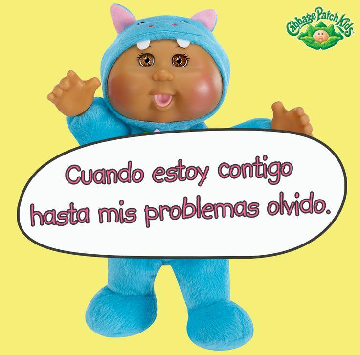 Cuando estoy contigo hasta mis problemas olvido. #cabbagepatch #cabbagepatchkids #sketchers #muñeca #niñas #abrazo #palaciodehierro #liverpool #comercialmexicana #walmart #soriana #sears #chedraui #coppel #juguetron #HEB #cuties